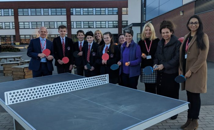 Table tennis table cropped
